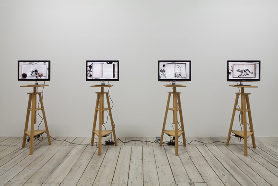 Kentridge Installation of 4 videos b