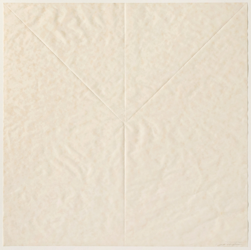 Sol LeWitt Paper Fold 1