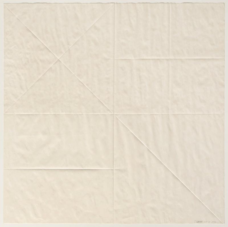 Sol LeWitt Paper Fold 2