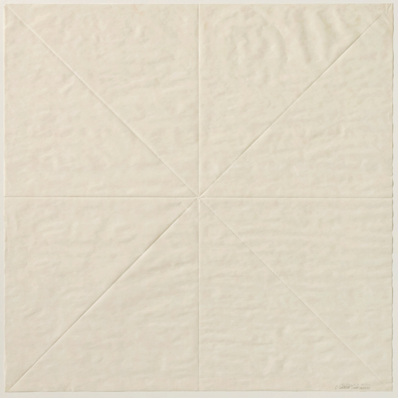 Sol LeWitt Paper Fold 5